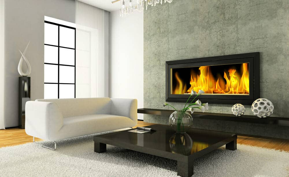 Electric Fireplace Insert Built in